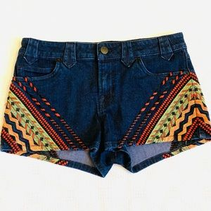 Urban Outfitters BDG Aztec Embroidered Shorts